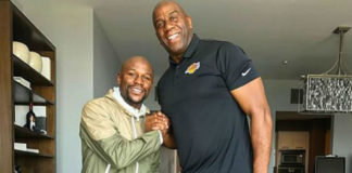 Mayweather y Magic Johnson